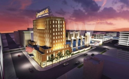 Winnebago Tribe Competes for Iowa Commercial Casino Ho-Chunk Inc., the Winnebago Tribe's economic development corporation, has submitted a bid to build a $122.3 million commercial casino and hotel in downtown Sioux City, Iowa.