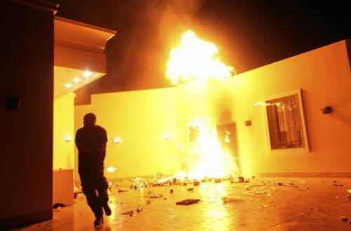 "Intelligence officials: We knew attack in Benghazi was terrorist act from beginning (Photo: Esam Omran Al-Fetori  /  Reuters, file) Top intelligence officials told NBC News Monday night that they have known the Sept. 11 attack on the Benghazi consulate was a terrorist act from the beginning. White House and intelligence officials meanwhile are denying charges by Republicans that there was an attempt to whitewash the origins of the Benghazi attack to protect the president politically. In the months since the attack, Republican lawmakers have focused on comments by Susan Rice, U.S. ambassador to the United Nations, who said what transpired was a ""spontaneous reaction to a hateful and offensive video.""   Read the complete story."