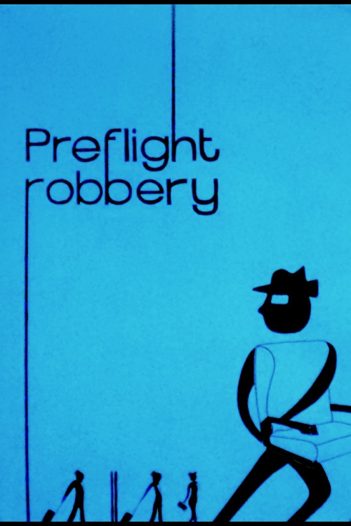 • Poster Design •  Preflight robbery - project for a poster based on a news article.  The article was about BA charging a substantial amount for booking where you sit on the plane. My inspiration is from the artwork from 'Catch Me If You Can'. The large character is running away with the seat, as in the article for 1st class you're nearly paying for the price of the seat! #ISeeWhatYouDidThere