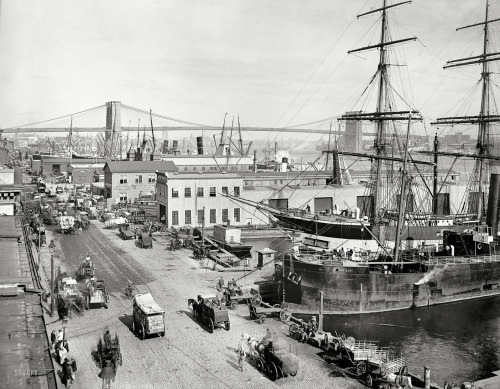 """ South Street Waterfront — Circa 1900 """