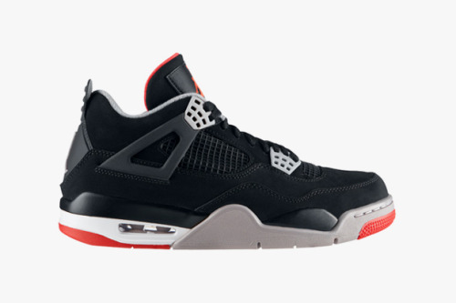 "Air Jordan IV ""Black/Red"" I know many people who have been eagerly awaiting this release this year. Celebrating it's 23rd anniversary, we see the release of the black/red colourway which many argue is the best available. Previously available in 2008, the 2012 release will differ with a full suede upper instead of the traditional leather.   Release date is this Friday, 23rd November."