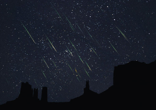 """Leonids Over Monument Valley"" - NASA's Astronomy Picture of the Day photographed by Sean M. Sabatini."