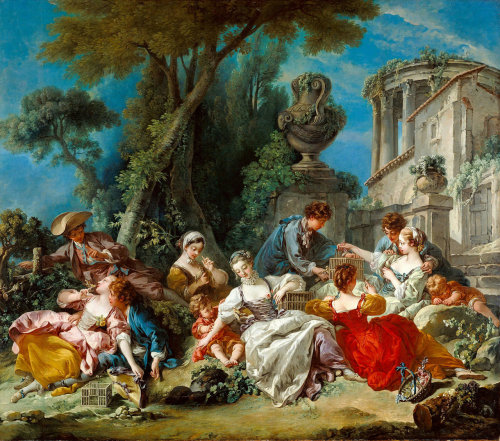 fleurdulys:  The Bird Catchers - Francois Boucher 1748
