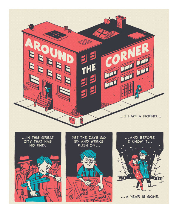 Read the whole comic: http://zenpencils.com/comic/93-charles-hanson-towne-around-the-corner/