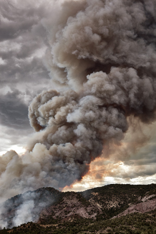 Colorado: Year of the Wildfires (Year of living in the endless haze) James Orndorf at Inland West looks back on a tinder dry year out West for #AmericanGuideWeek:     Colorado, as did much of the West, endured a summer of wildfires that has continued on in to the autumn in many parts of the state as drought conditions, forest management decisions and above average temperatures have left large portions of the state tinder dry and prime for fire. While the giant fires near Denver and Colorado Springs grabbed much of the headlines there have been, and continue to be, many more fires spread out across the state due to the lack of any snow cover.   Follow James Orndorf (aka inlandwest) on Tumblr and let him be your guide to the American West. Track the fires at InciWeb.