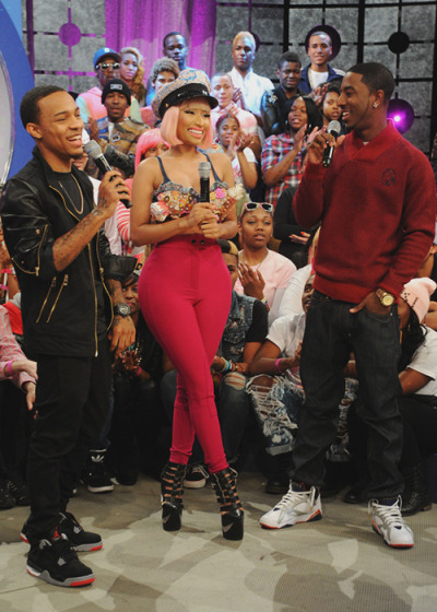 "Nicki Minaj on 106 & Ratchet Park on Monday to premiere the video for hernew song, ""Freedom"" - watch the vid here."