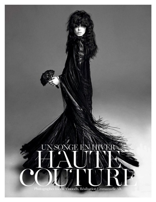 Vogue Paris November 2012 by Inez & Vinoodh | Kati Nescher in Givenchy Haute Couture