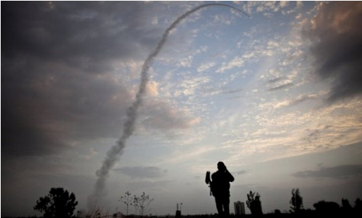 "An Israeli missile from the Iron Dome defense system is launched to intercept incoming rocket fire from Gaza on Nov. 17 in Tel Aviv. Photo: Uriel Sanai/Getty Images ""The significance of rockets fired on Tel Aviv and Jerusalem should not be underestimated,"" says Amir Oren with Israel's Haaretz. ""The imaginary barrier has been breached, and in a war of attrition, psychology is considered very important, especially in a population hovering between hope and despair.""  More…"