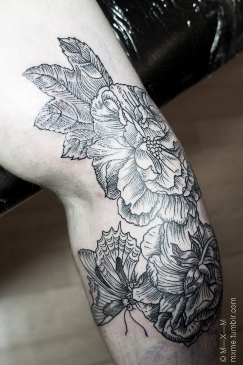 mxme:  1st session on Duncan's peonies. Shading coming up