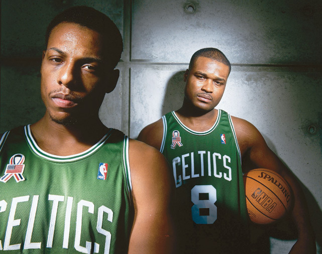 The future of the Celtics - Paul Pierce and Antoine Walker - pose together during a 2000 SI photo shoot. (Peter Gregorie/SI) GALLERY: Iconic Photos of the Boston Celtics
