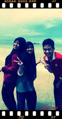 at damai beachh :> pasca pmr