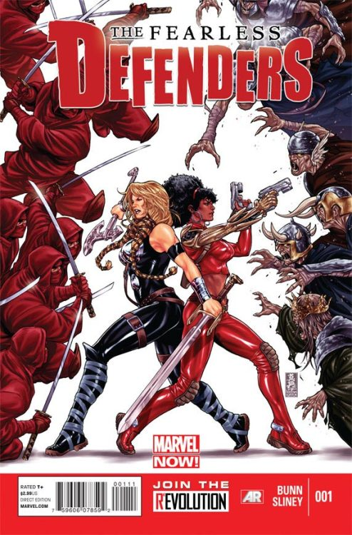 "Fearless Defenders, oh my God. Valkyrie? Misty Knight? Danielle Moonstar? That's amazing. I've never read any of Bunn's work, but that's one hell of a lineup. I'm really into this whole ""let the New Mutants actually be a part of the Marvel universe"" thing that's happening now."