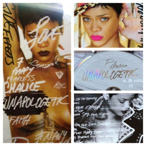 pawsupgagalove:  @pawsupgagalove I finally have #Unapologetic! Was the first one who bought it in my city.