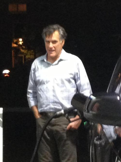 "sundays-end:  queefnasty:  thagoodthings:  Mitt Romney pumping his own gas.  The Comedown Vol. 1  That's Mitt Romney? Man he looks disheveled as fuck. Wouldn't be surprised if he takes his family to one of his winter houses to write a ""novel"" but tries to murder them with an ax instead."