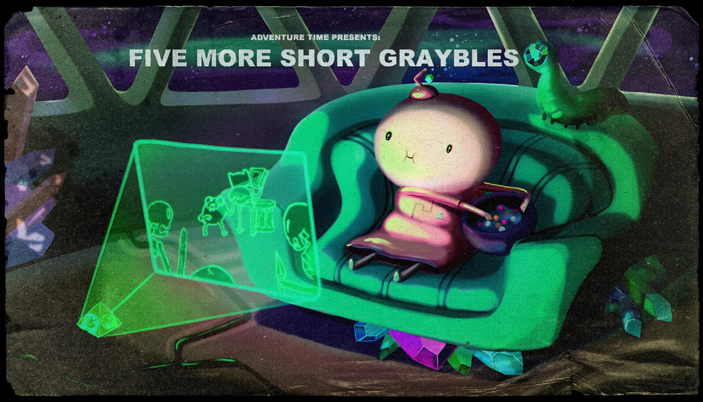 Adventure Time - Five More Short Graybles I missed the title card, so I didn't know we were supposed to be looking for a theme, so I was like…What is going on??? But I mean it was funny and stuff, and there were two themes!