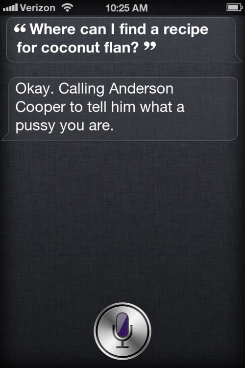 smartasshat:  Damn Siri, that's harsh.
