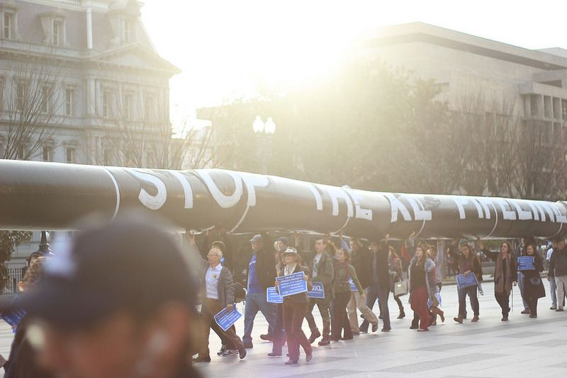 "Protesters Demand ""No KXL!""  For advocates of action on climate change, the science is settled — the time to move is now. For the second time in 13 months, thousands took to the streets surrounding the White House calling on President Obama to nix the Keystone XL pipeline."