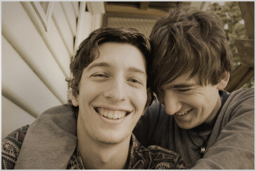 gaylovegalore:  This is me and my boyfriend Mitch (left and right retrospectively) and have now been dating for just under nine months now and are currently in a long distance relationship. Submitted by: thefluffysheep