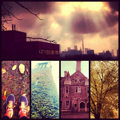 @NikeRunning #Toronto #autumn #morning #run —->  #cloudy #cntower #Nike #CasaLoma #trees #leaves #fall #beauty #nature #fitness #fun #motivation