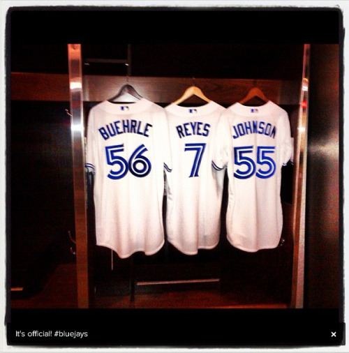 It's official - Johnson, Reyes, Buehrle Jays uniforms are here!