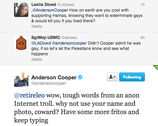 buzzfeed:  Damn, Anderson Cooper, you're on a roll.  Ummmmmm… I love Anderson Cooper.