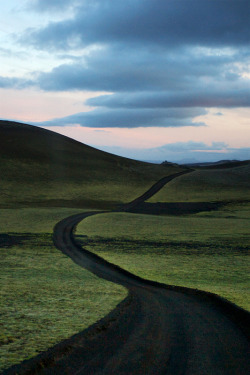 A road through the moss to the Lakagígar craters in Iceland, the source of the eruption in 1783 that killed hundreds of thousands of people around the World, sparked the French Revolution and made the Mississippi River freeze down to New Orleans. Photo by Snorri Gunnarsson.