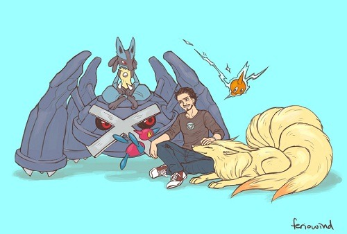 juststark:  The Avengers and their Pokemons by FerioWind@Deviantart
