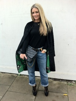 Here's Donna wearing Current/Elliott Boyfriend jeans http://www.donnaida.com/denim/boyfriend-jeans/current-elliott-the-boyfriend-jeans-loved.html dressed up with a Tucker Pod Coat http://www.donnaida.com/tucker-pod-jacket-23575.html