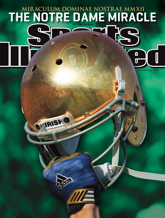 This week's Sports Illustrated cover features the return of Notre Dame football as the Fighting Irish reclaim the nation's No. 1 spot. (David E. Klutho/SI)