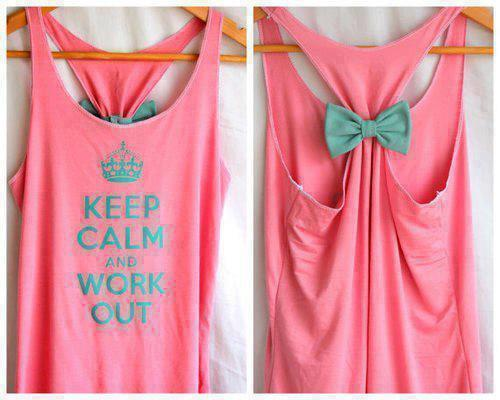 mycolourfulheart:  Keep calm and work out :P