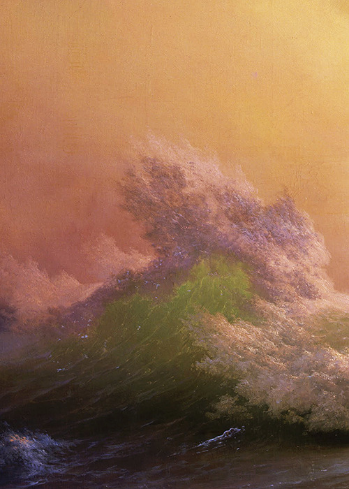 Ivan Aivazovsky, The Ninth Wave (detail), 1850 (x)