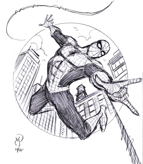 Spider-Man warm up sketch