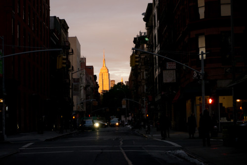 Empire state from Mott Street.