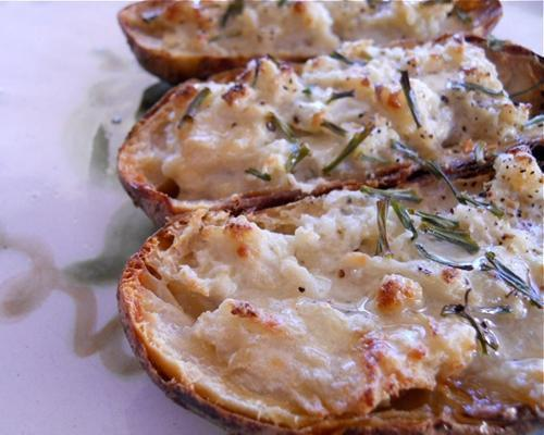 Recipe: Double-Baked Potatoes with Blue Cheese and ChivesRich and savory double-baked potatoes can solve almost every family dispute except what to do about climate change. More vegetarian-friendly Thanksgiving recipes