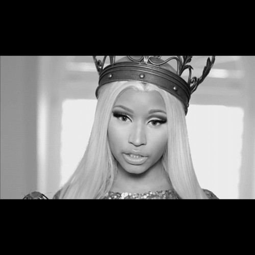 DaQueen👌 #nicki #minaj #onika #queen #freedom #beautiful #blackandwhite #crown