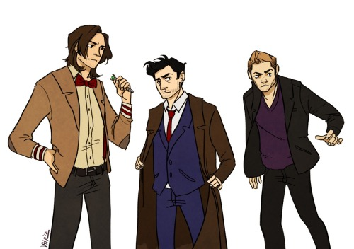 heysammy:  vickah:  Team Free Will as Doctors 9, 10 and 11.   OH MY HOLY FUCK