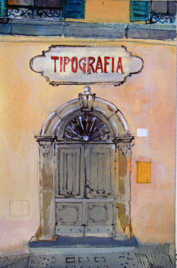 Tipografia Watercolour 2012 http://www.banksidegallery.com/ViewExhibition.aspx