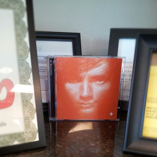 Playing Ed Sheerans Plus album in the office today, had to put the case somewhere. Why not on display!?