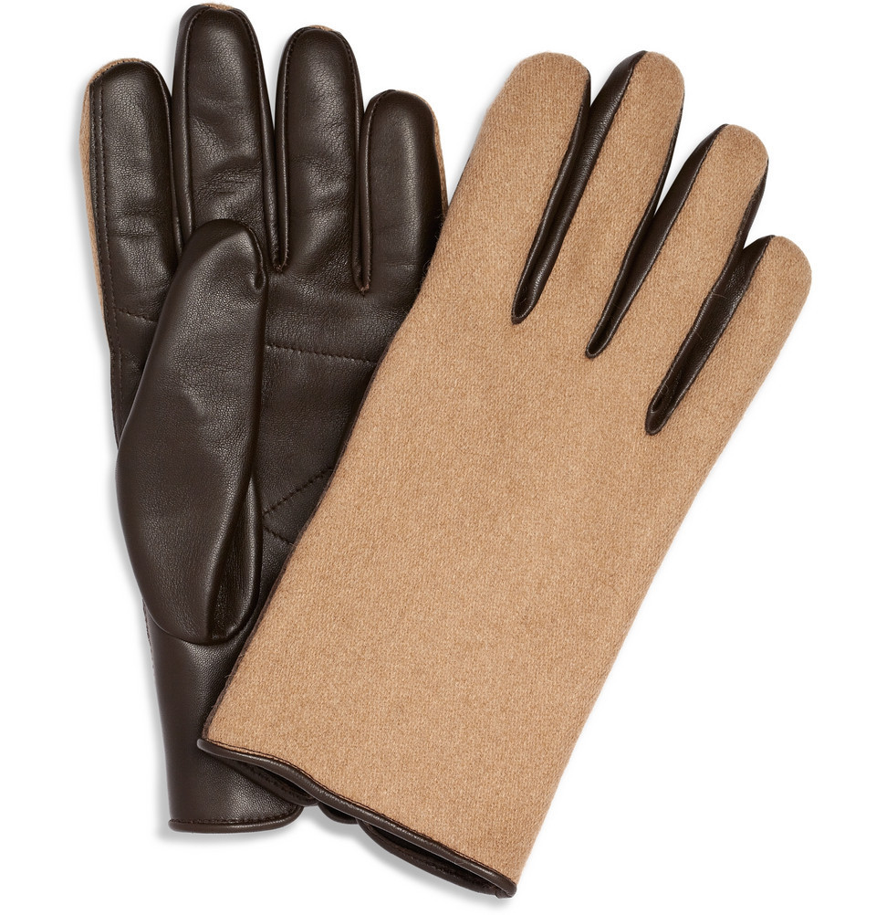 Margiela Leather & Camel Gloves