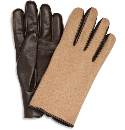 textbook:  Margiela Leather & Camel Gloves