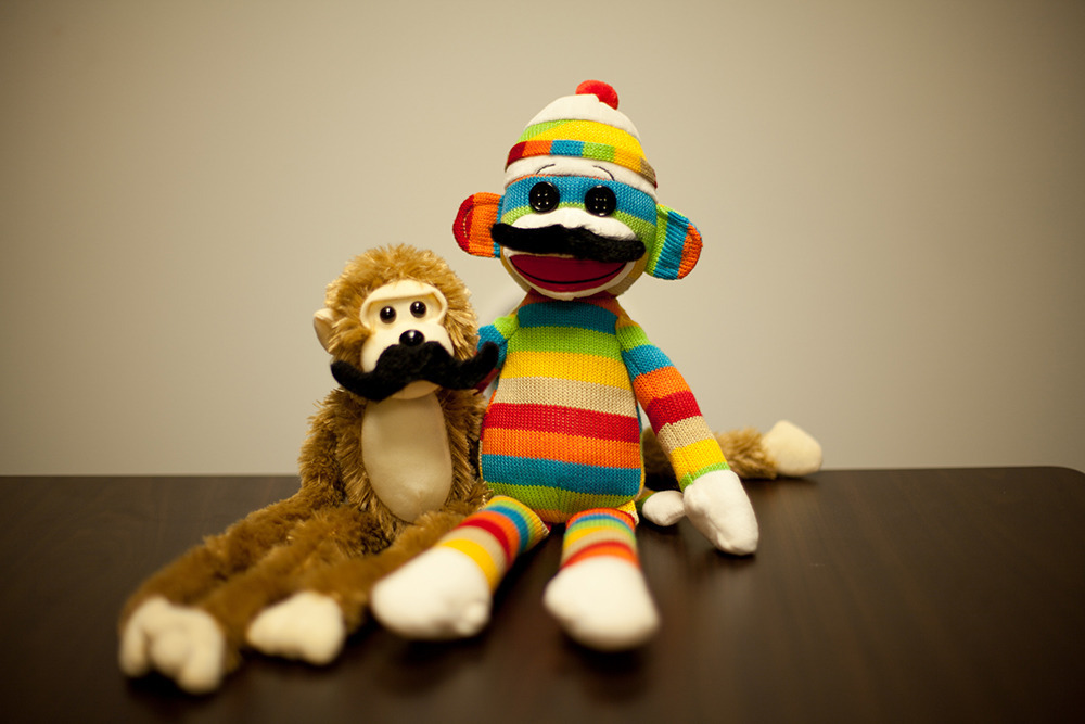 Movember Tribute: Mustaches + Monkey Business  http://www.skyboxcreative.com/news/news/philanthropy/movember-mustaches-and-monkey-business-photo-gallery.html