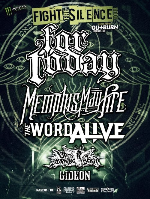 For Today announce tour with Memphis May Fire, The Word Alive, Upon A Burning Body and Gideon.