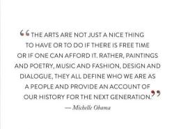 sfmoma:  Wonderful words on the importance of the arts from the First Lady :)