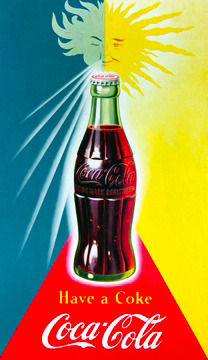 Day or night it's always Coke time. #tbt