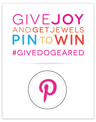 Win a $250 Dogeared Gift Card!   Enter our Give Joy and Get Jewels Pin to Win Pinterest promotion! Click the image for all the promotion rules & details and visit our GIVE Pinterest board to get started!