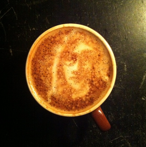 acehotel:  John Lennon spirited Ned Hepburn's cup of Stumptown joe today at Ace Hotel New York.  ジャバジャバでもこんなのだったら喜ぶんかね。。。