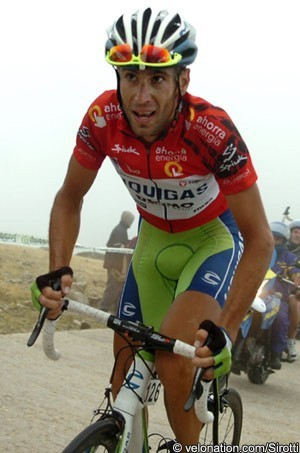 Vincenzo Nibali. Bola del Mundo climb, Vuelta a España 2010. ©Sirotti