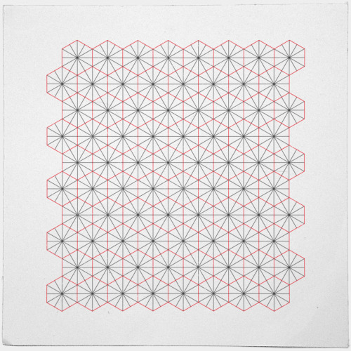 geometrydaily:  #326 Triagons/Hexangles – I cannot be held responsible for any damages staring at this graphic might cause. – A new minimal geometric composition each day