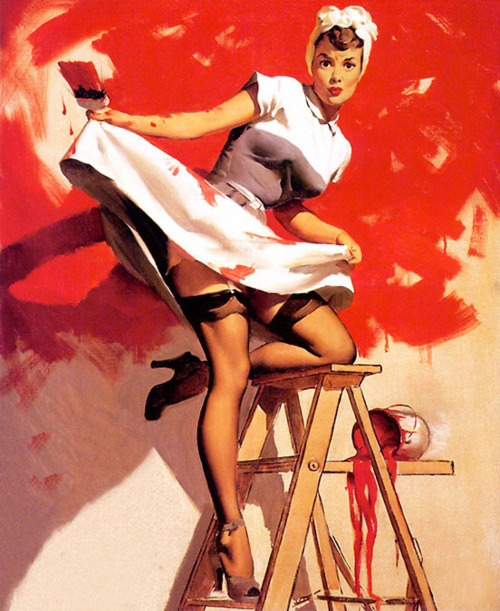Gil Elvgren - In the Red 1950