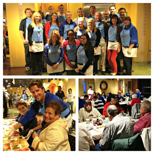 Royals associates took part in serving a Thanksgiving meal to over 250 people at the Guadalupe Center today, which serves to improve the quality of life for individuals in the Latino communities of greater Kansas City.